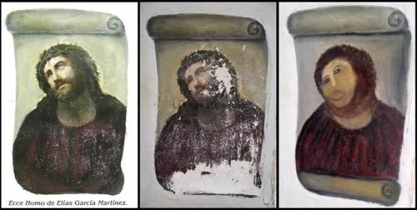 The three stages in the life of the Borja Ecco Homo