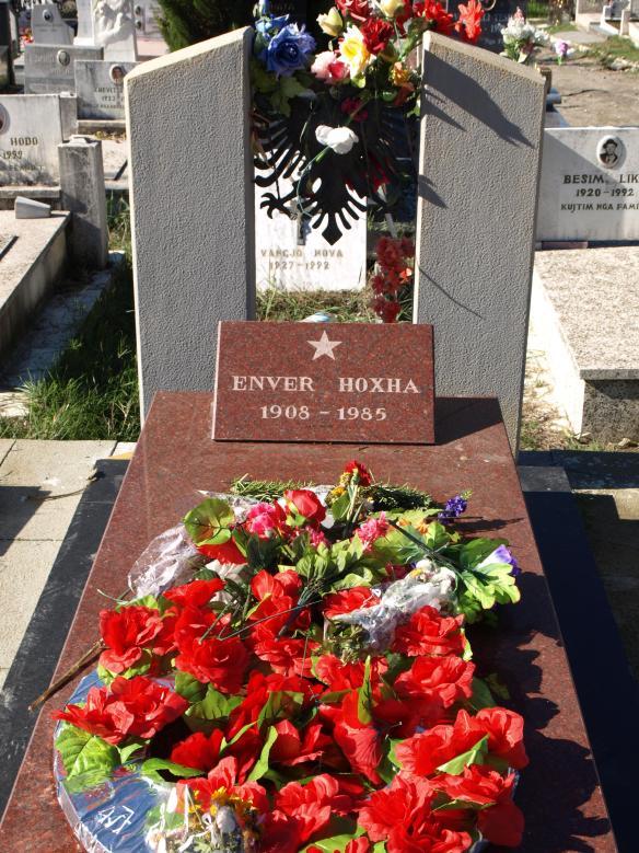 Enver Hoxha;s Grave in Tirana