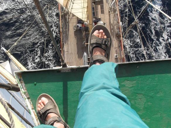 Self portrait on main mast