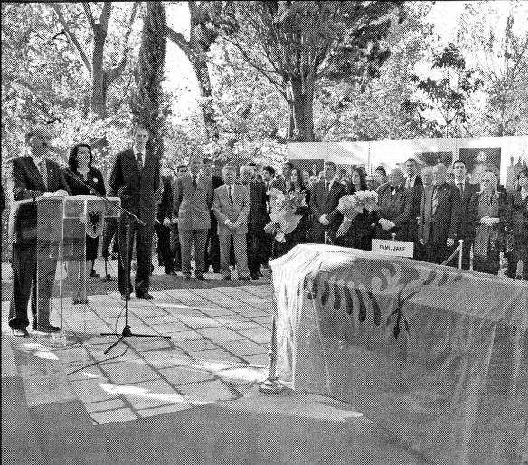 Ceremony at the new Zog tomb in Tirana