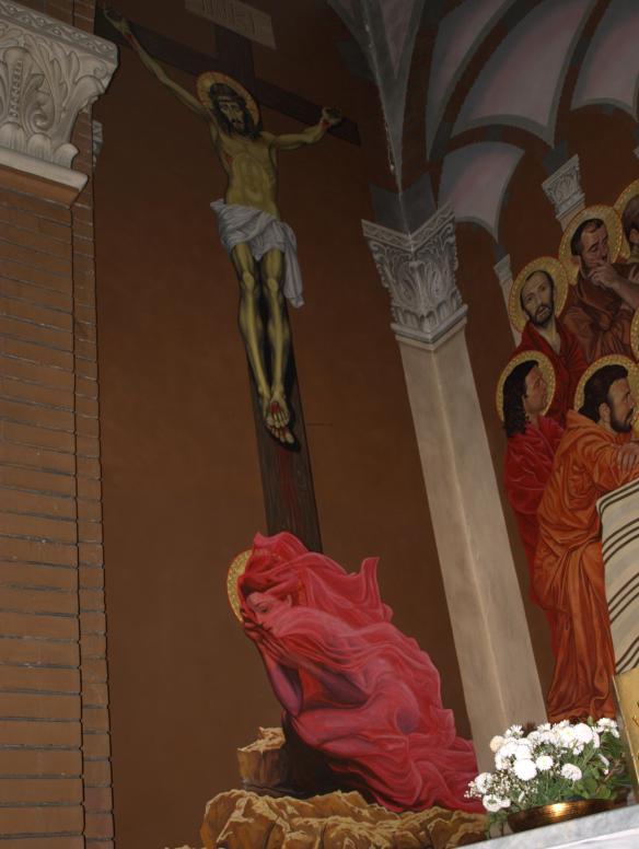 Tirana Catholic Church - Mary at the Crucifixion