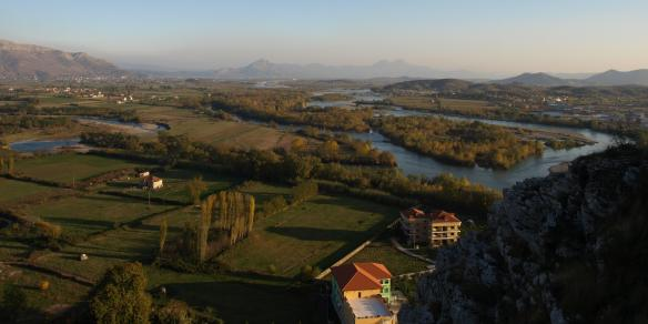 View from Rozafa Castle, Shkoder
