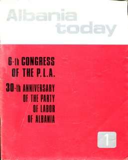 Albania Today November-December 1971 - First ever issue