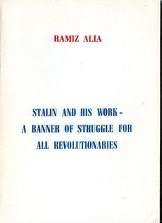 Stalin and his work - Ramiz Alia