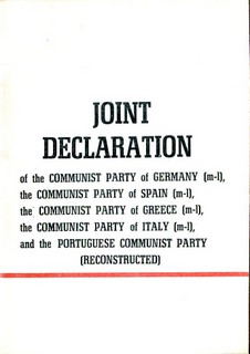 Joint Declaration of Marxist-Leninist Communist Parties of Europe