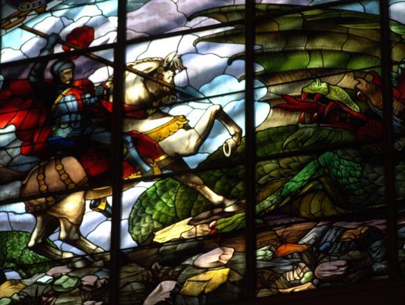 St George Window - Concert Hall - St George's Hall - Liverpool