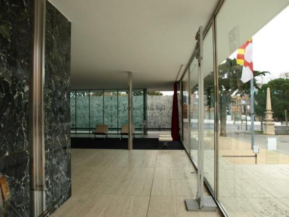 Entrance - Mies van der Rohe Pavilion