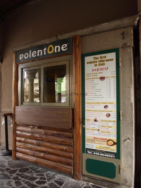 Polenta Stall, Piazza Mercato della Scarpe