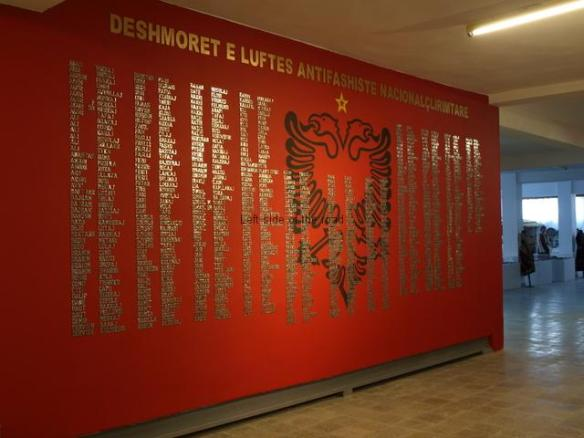 Fier Martyrs' Wall of Honour