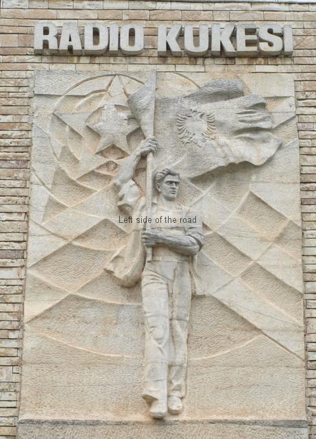 Bas relief on Radio Kukesi - 01