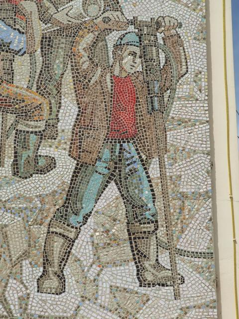 Bashkia Mosaic - quarry worker