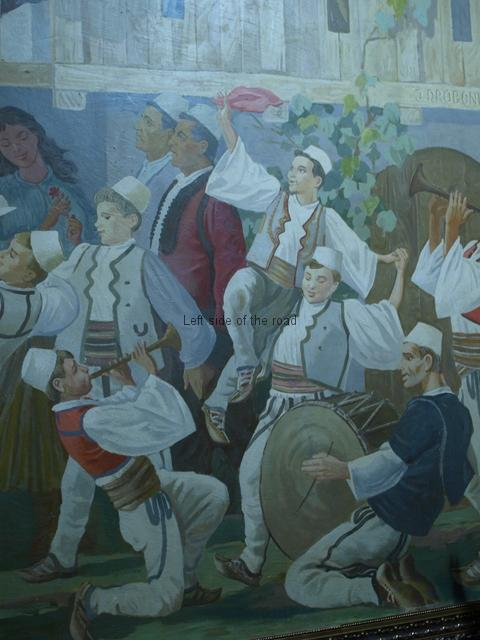 Male dancers and musicians