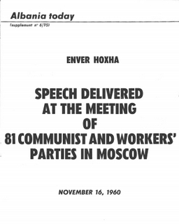 Albania Today No 6 (25) 1975 - Supplement - Hoxha 1960 Moscow Speech