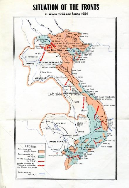 Situation of the Fronts in winter 1953 and spring 1954