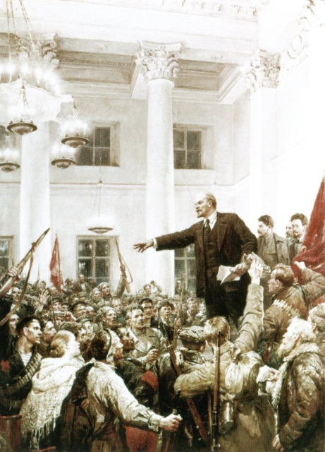 Lenin at the Smolny Institute