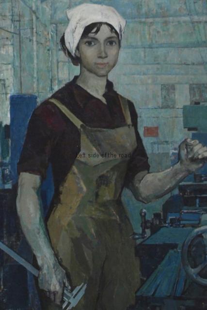 The manual lathe operator - Zef Shoshi - 1969