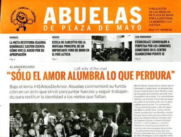 Abuelas de Plaza de Mayo - monthly publication
