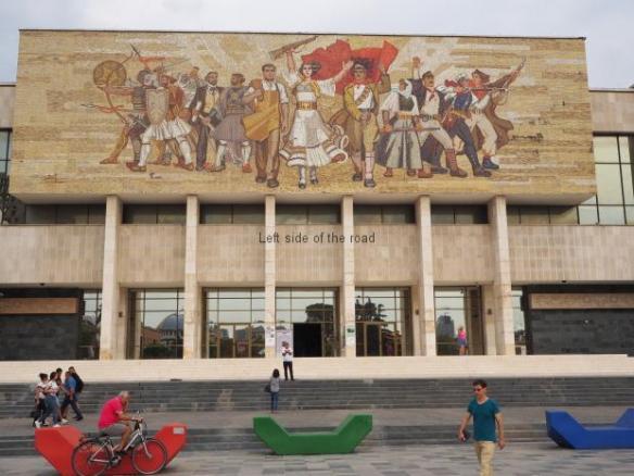 'The Albanians' Mosiac at the National Historical Museum, Tirana