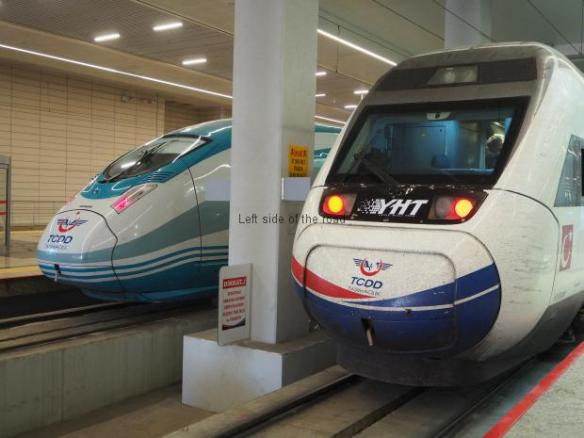 Turkish High Speed Trains - YHT - in Ankara Station