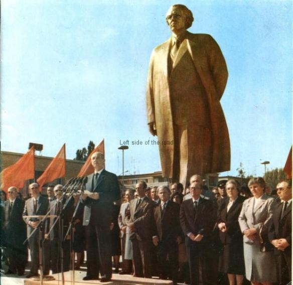 Enver Hoxha in Skanderberg Square - Inaugaration