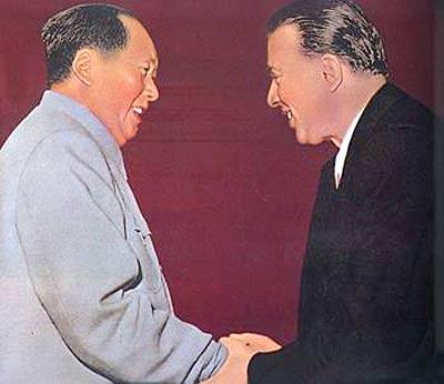 Mao Tse-tung and Enver Hoxha