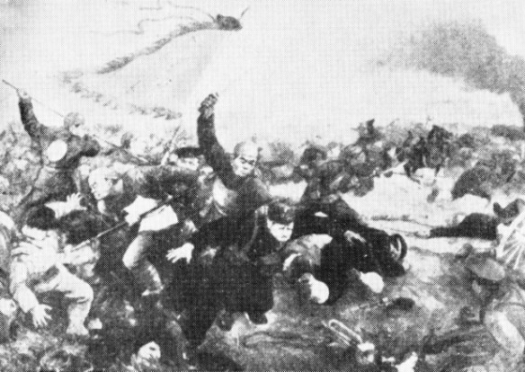 Yi Ho Tuan fighters attacking the aggressors at Langfang