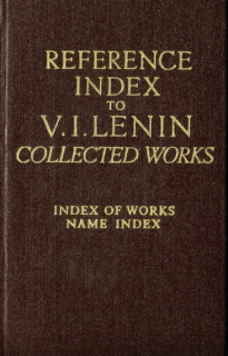Lenin Collected Works - Index of Works and Names