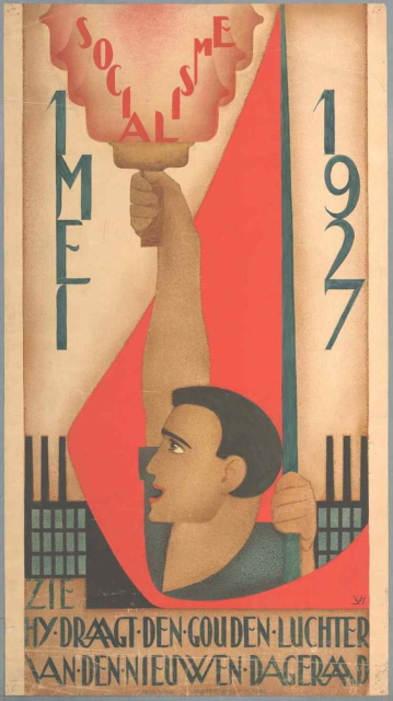 Dutch May Day poster - Johan van Hell, 1927