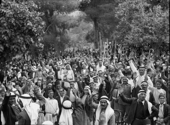 Palestinian rally - Abou Ghost, 1936