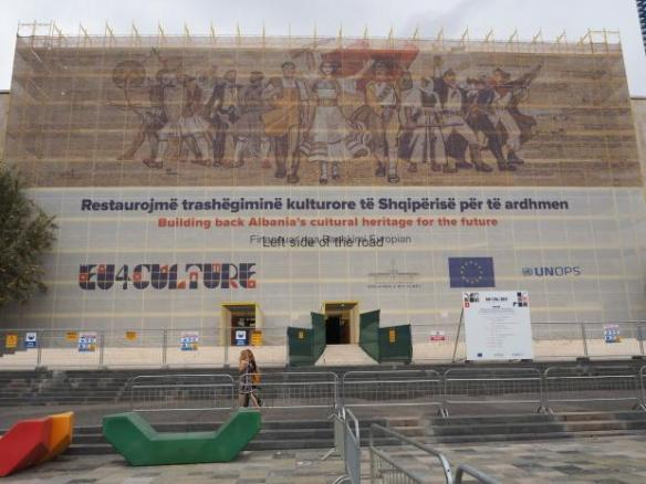 Facade - National Historical Museum - Tirana