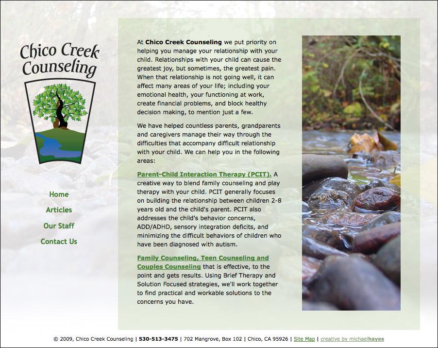 Chico Creek Counseling web