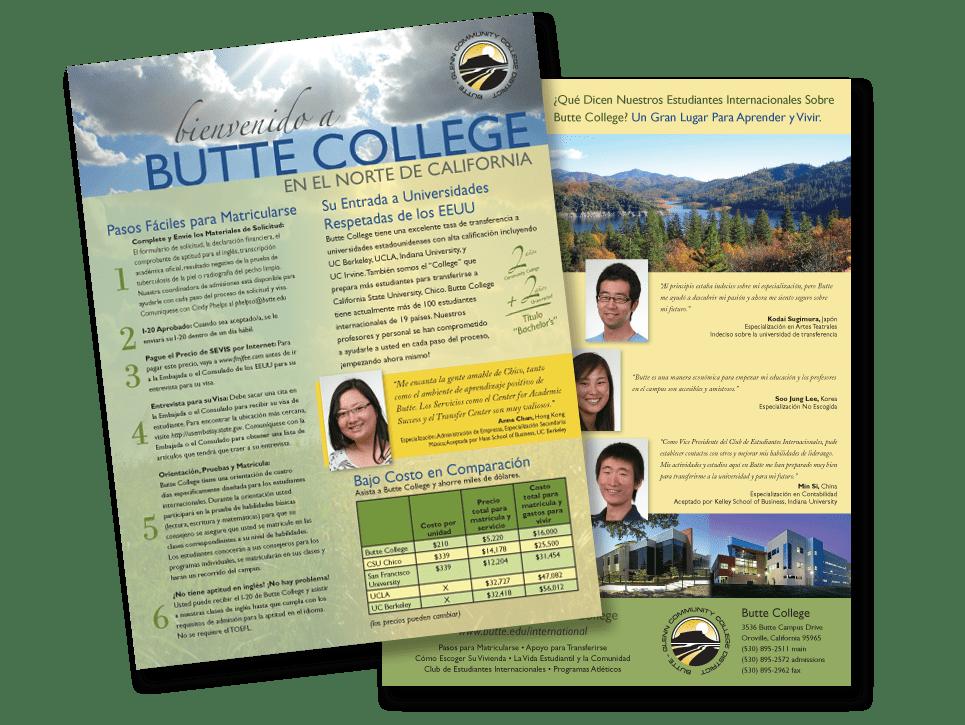 Butte College brochure, Spanish translation