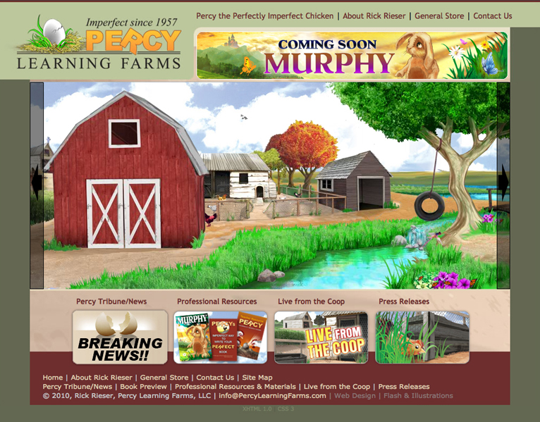 Percy Learning Farms web
