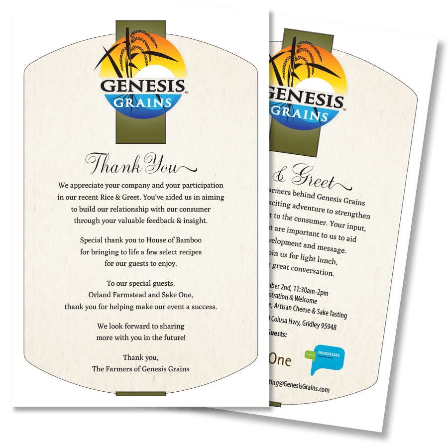 Genesis Grains Meet & Greet Invitation