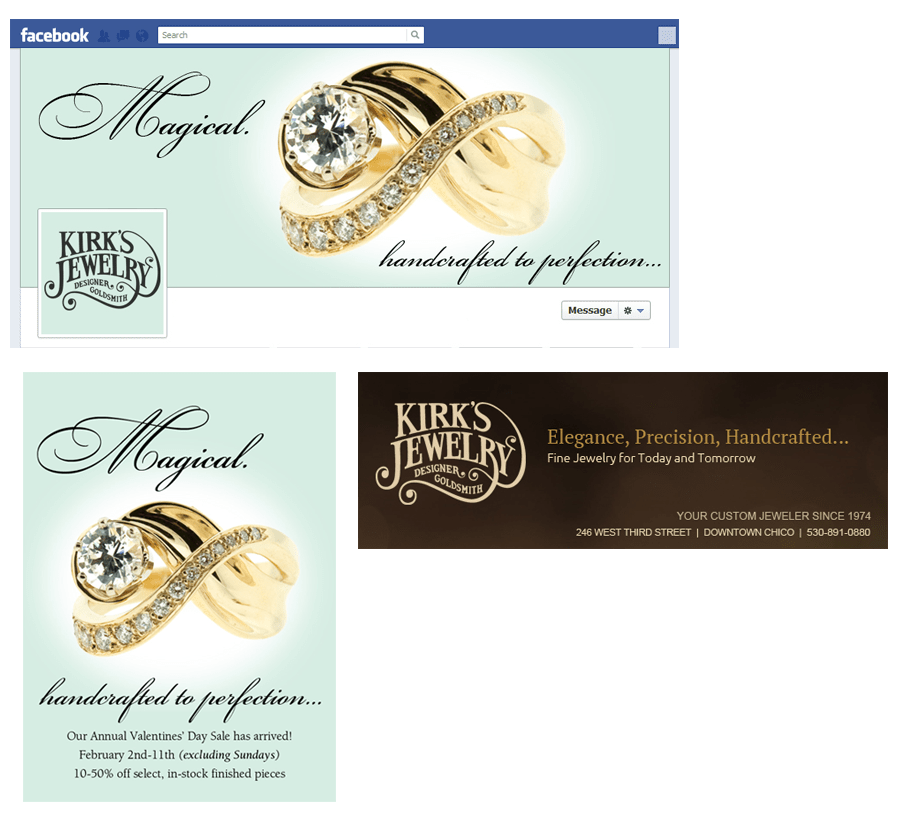 Kirk's Jewelry web banner ads