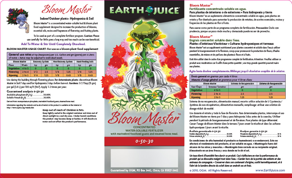 Bloom Master label