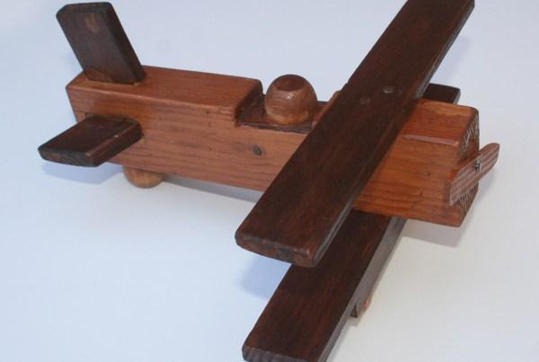 Handmade Rustic Wood Vintage Airplane