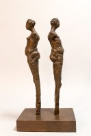 Getting to Know You – Michael Hermesh, Bronze Mobile, 13.5 X 14 X 5 inches, New Bronzes by Michael Hermesh