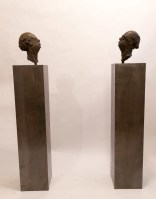 Gratuitous Bailee - Michael Hermesh, Bronze, 67 X 12 X 12 inches each, Ceramic and Bronze Sculpture by Michael Hermesh