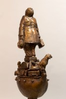 Life Without the Ferryman by Michael Hermesh, Bronze, 32 X 11 X 6.5 inches, new bronze releases by Michael Hermesh
