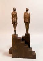 The Honest Man - Michael Hermesh, Bronze, 21.25 X 12 X 5 inches, Ceramic and Bronze Sculpture by Michael Hermesh