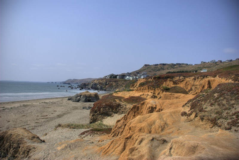 The cliffs overlooking Dillon Beach