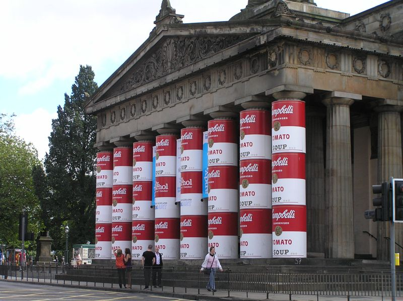 Andy Warhol visits Scotland's National Gallery