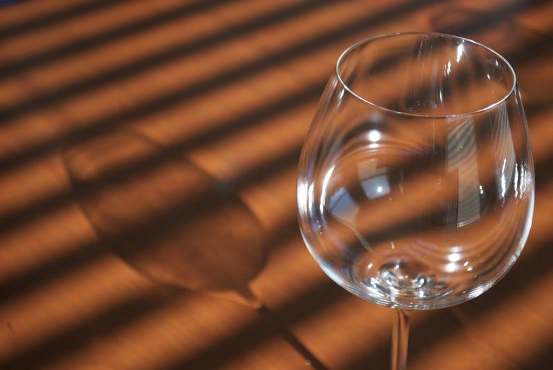 A sad lonely glass.