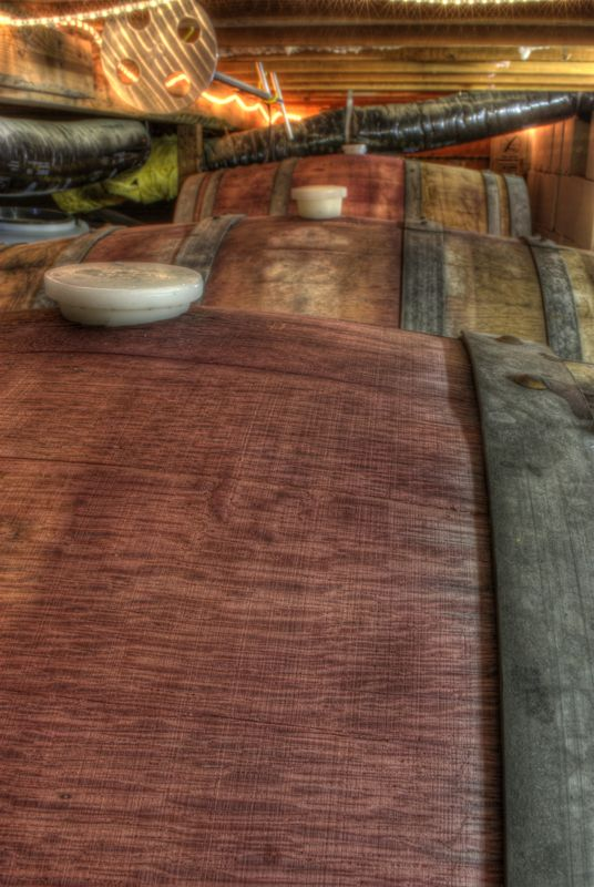 Wine Stained Barrels