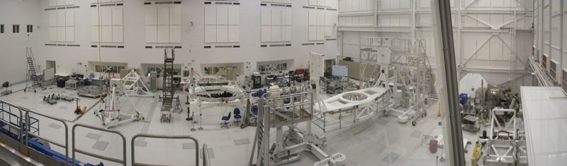 The ginormous clean room of JPL.