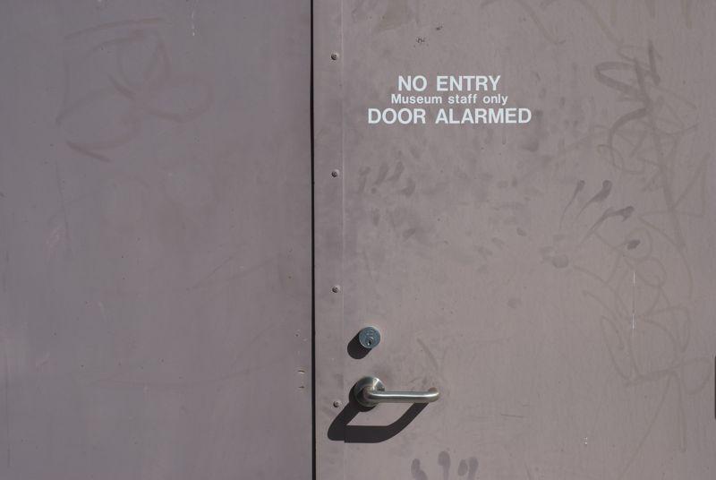 The door actually looks rather calm.