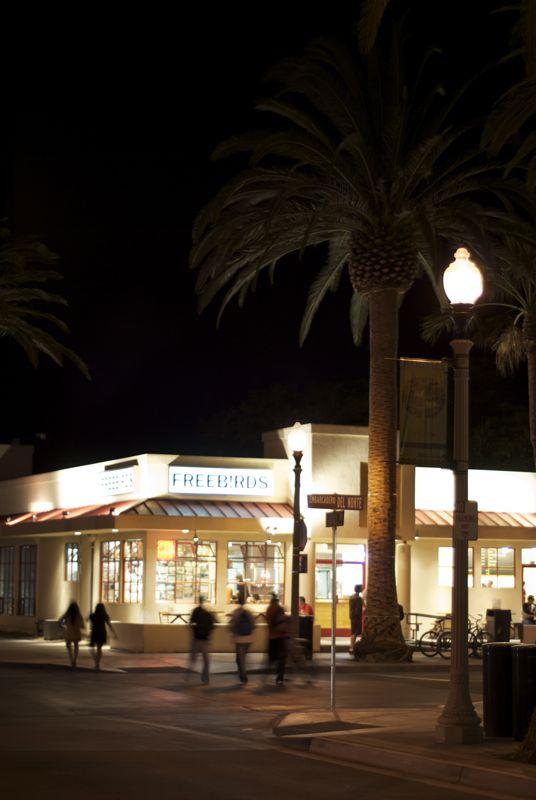 Late night (sans Pirate) in Isla Vista.