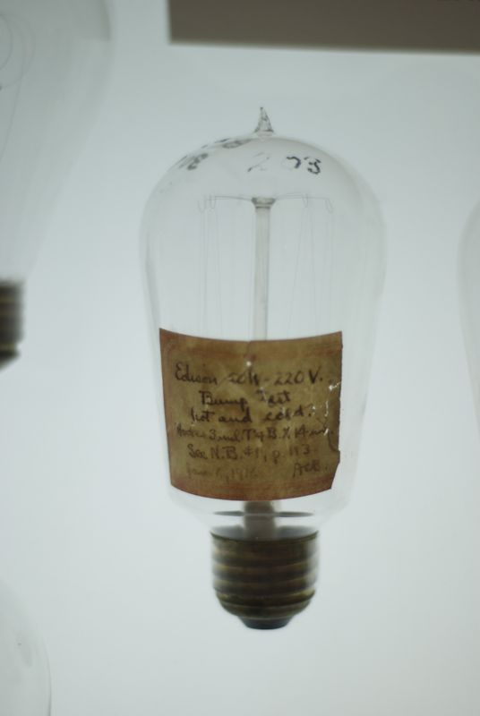 A lightbulb used by Edison to test filaments.