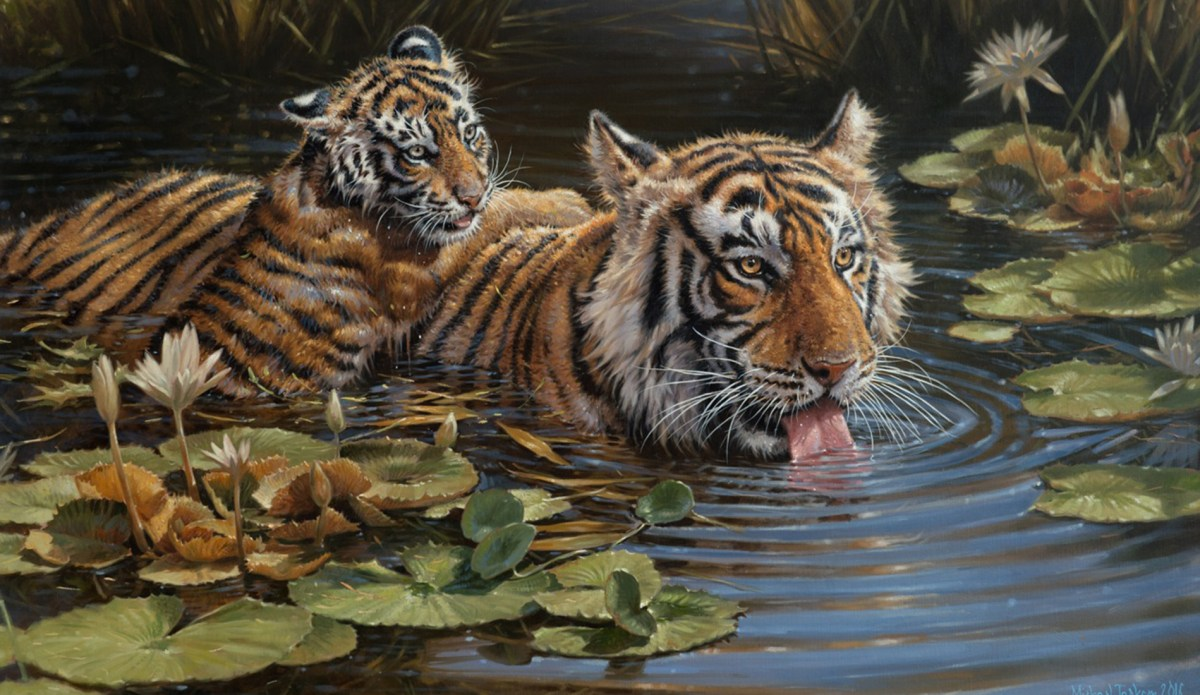 'Dorothy's Tigers' by Michael Jackson Fine Artist
